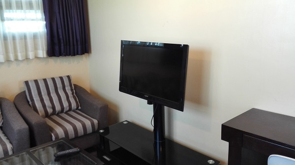 お部屋にはTVも完備!