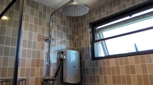 水圧も安心のシャワー
