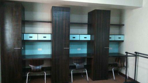 プライベートな空間も守られた3人部屋