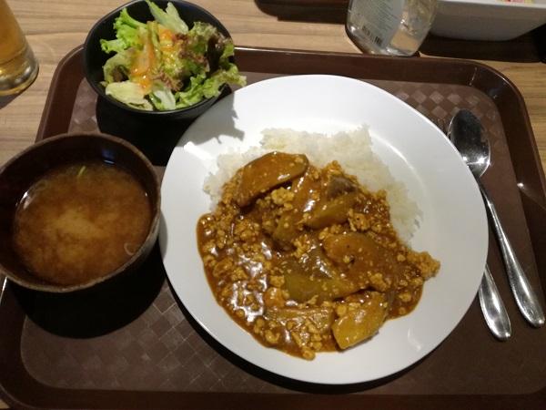 ナスと鶏ひき肉のキーマカレー